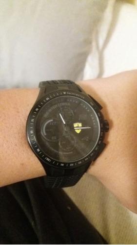 Relógio De Pulso Ferrari Preto Usado.