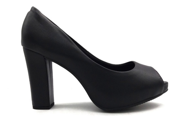 Zapato Vestir Stiletto Beira Rio Punta Abierta Taco 4788.201