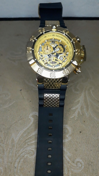 Relógio Masculino Dourado Luxo 2020 + Brinde (5 Baterias)