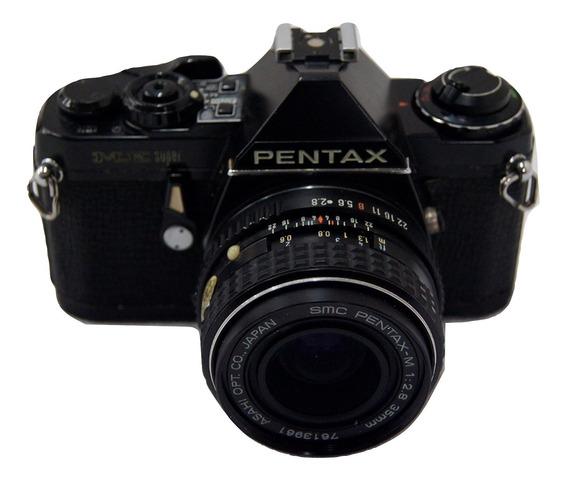 Câmera Fotográfica Pentax Me Super Com Acessórios