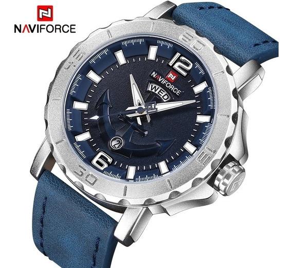 Relógio De Quartzo Analógico Naviforce 9122 - Azul - 24hs