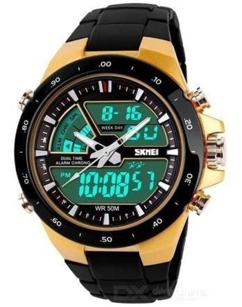 Relógio Skmei 1016 Dual Time 5atm Prova D