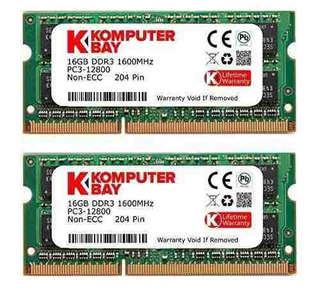Komputerbay 32gb Dual Channel Kit 2x 16gb 204pin Ddr3-1600 S
