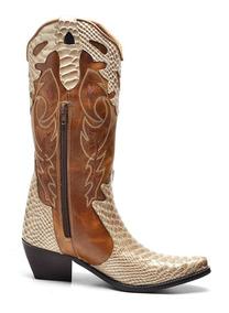 Bota Feminina Texana Bico Fino Cano Longo Numero 36