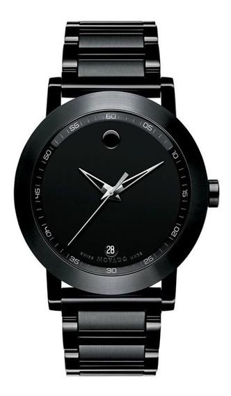 Reloj Movado 606615 Acero Inoxidable Negro Hombre
