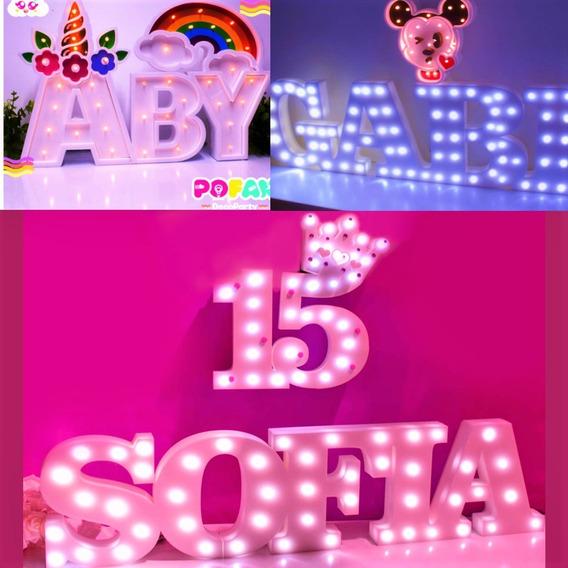 Letras Numeros Luminosos Personalizado Candy Bar Luces Led