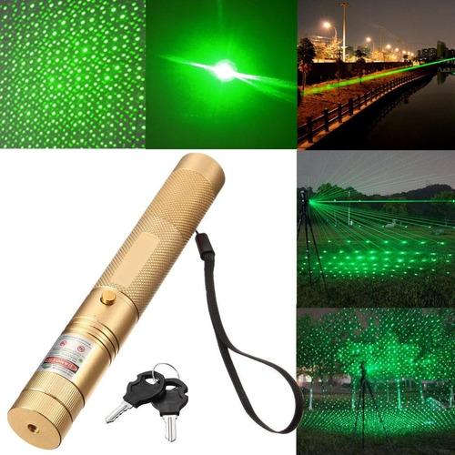 Potente Puntero Laser Verde 8000mw Recargable Con Llaves