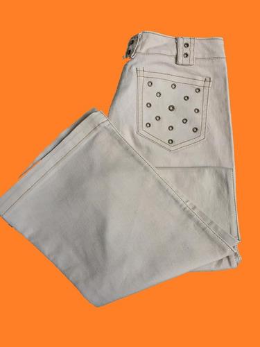 Pantalon Beige Gabardina