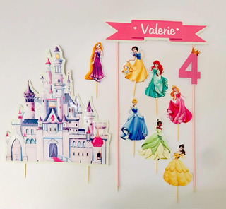 Decoración Ponque Frozen Princesas Disney