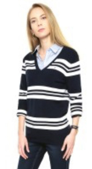 Sweater Mujer Escote En V - Tommy Hilfiger