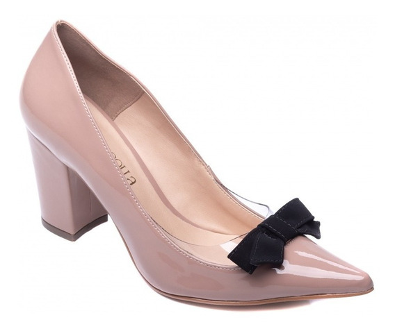 Sapato Feminino Scarpin Rose Para Festas Trabalho Casual
