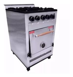 Cocina Industrial Pevi 4 Hornallas 55 Cm Ac Inox Fund Cuotas