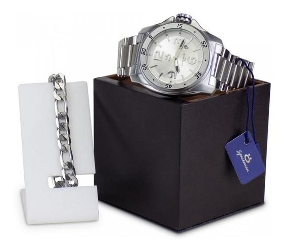 Relógio Masculino Em Aço Original A Prova D