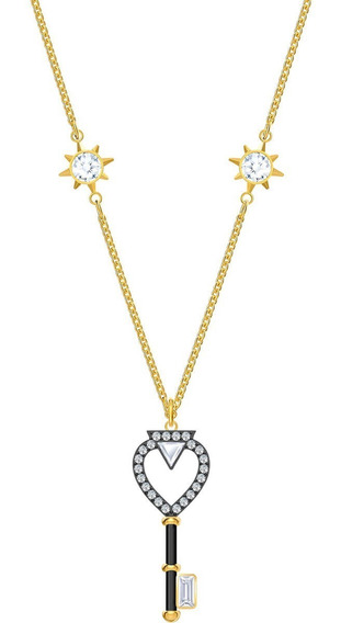 Colar Swarovski -tarot Magic Necklace, White, Gold Plated