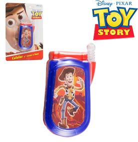 Celular Infantil Com Som E Luz Toy Story A Bateria Na Cartel