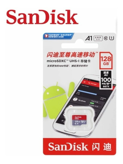 Micro Sdhc Sandisk Ultra Xc1 A1 Classe 10 Uhs-1 64gb 100mb/s