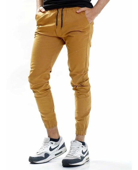 Pantalón Gabardina Puño Joggers Varios Colores