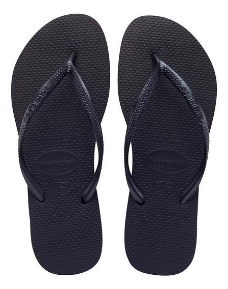 Ojotas Havaianas Slim Original Preto Black Talle 35 Al 40