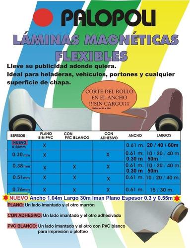 Rollo Magnetico Con Adhesivo 0.61x30m Palopoli 0.76mm Vehicu