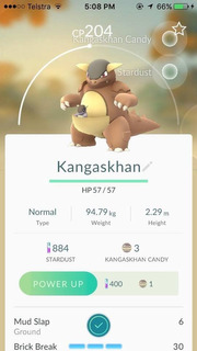 Kangaskhan Pokemon Go