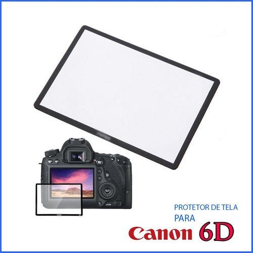Protetor Proteção Tela Lcd Vidr Optic Camer Maq Canon 6d