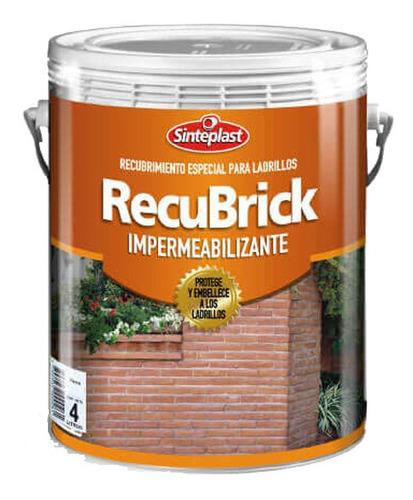 Recubrick Impermeabilizante Incoloro Para Ladrillos Sinteplast 20 Lts. Universo Pinturerías