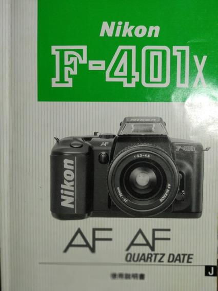 Manual Original Câmera Nikon Nikkor Analógica Made In Japan