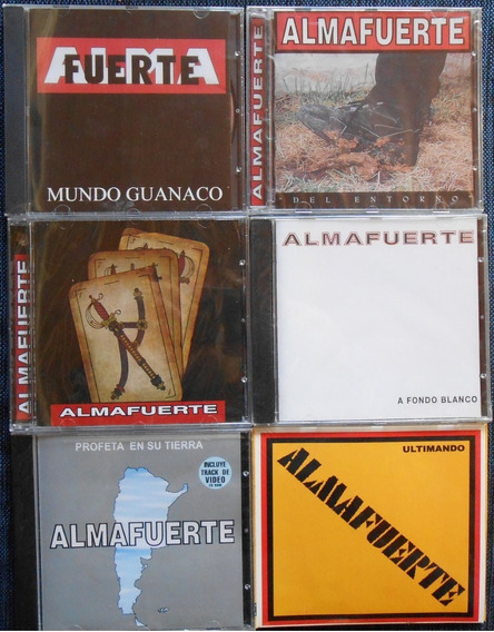 Discografia En Lote Almafuerte - 6 Cd Nuevos Mundo Entorno
