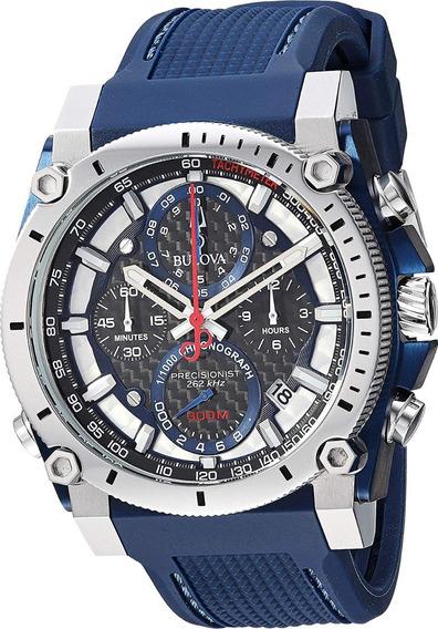 Relógio Bulova 98b315 Precisionist Lançamento Original Azul