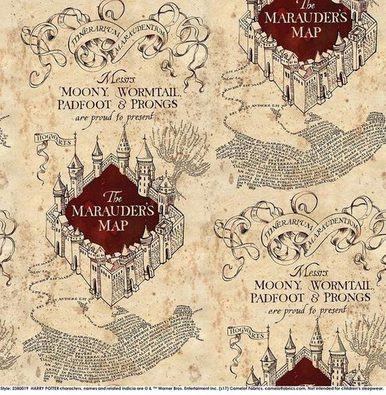 Mapa Harry Potter Del Merodeador Original Poster