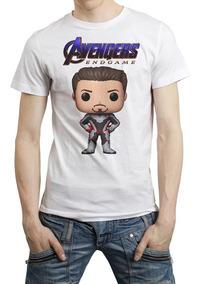 Funko Pop Avengers Endgame Playera Tony Stark Iron Man End