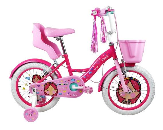 Bicicleta Monk Pintarela Niña Rodada 16