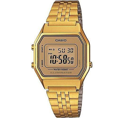 Relógio Casio Feminino Vintage La680wga 9df Dourado Origina