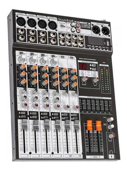 Mesa De Som Soundcraft Sx 802 Fx Usb C/ Efeitos