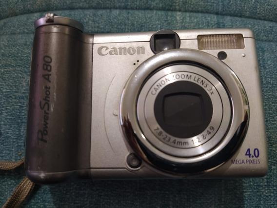 Camera Digital Canon Powershot A80 - Quebrada Retirada Peça