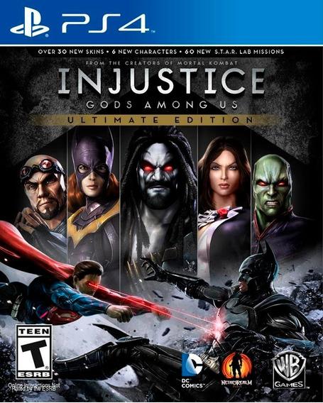 Injustice Ultimate Edition Ps4 Psn Vitalícia Envio Imediato