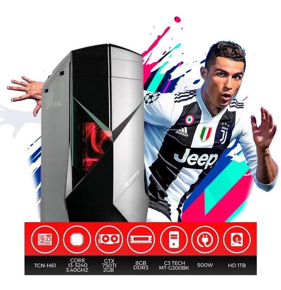 Pc Gamer C3 Tech Intel Core I3, 8gb Ram, Hd 1tb, Gtx 750ti