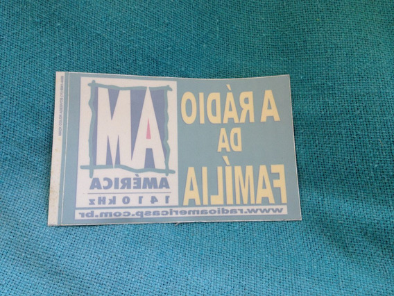 Adesivo Rádio América Am São Paulo Raro Interno Exclusivo