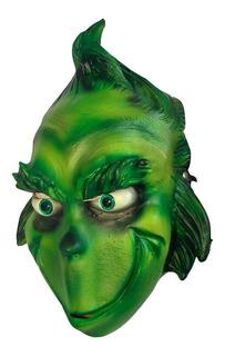 Mascara Latex De El Grinch - Disfraz Navidad Halloween