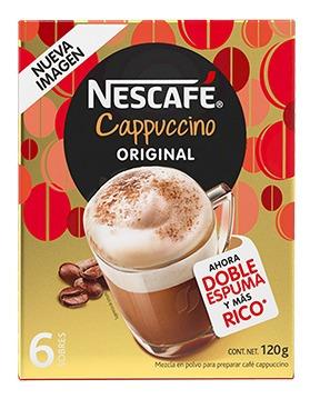 Cafe Nescafe Cappuccino Moka 6/22gr -(1 Pieza)