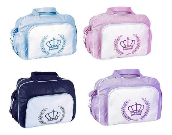 Kit 2 Bolsas Maternidade Bebê M Baby Coroa Lisa Cores Só Hoj