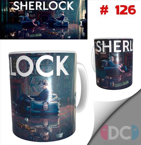 Imagen 1 de 3 de Taza Sherlock Holmes Series De Tv # 126