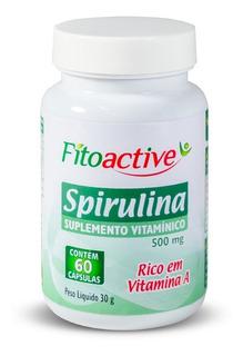 Spirulina 60 Cápsulas Fitoactive