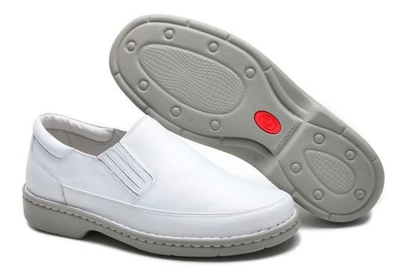 Sapato Social Masculino Couro Ortopédico Medico Clinica.