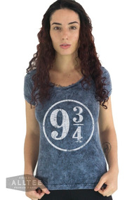 Camiseta Harry Potter Estação 9 3/4 Hermione Camisa Feminina