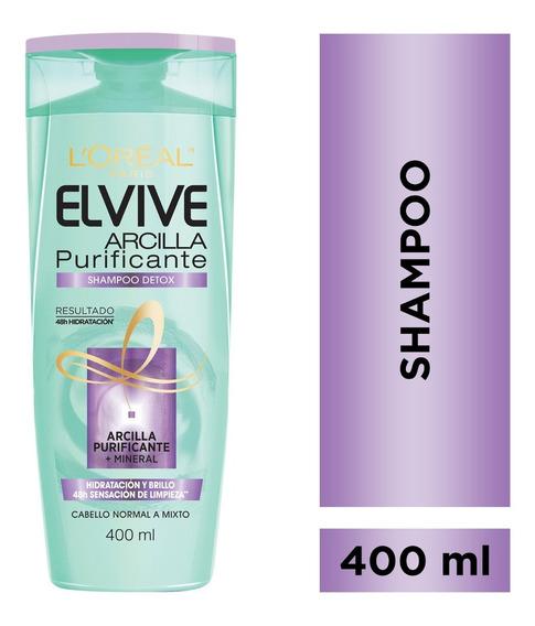Shampoo Detox Arcilla Purificante X400 Elvive Loreal Paris