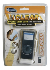 Estojo Em Acrílico Com Fone De Ouvido Para iPod Nano 2ª Gera