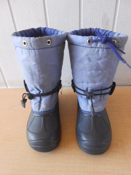 Botas Frio Niños Nieve Lluvia Largo Del Pie 22 Cm. #298