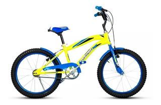 Bicicleta Para Nene -crossboy Top Mega Rodado 20 Amarilla !