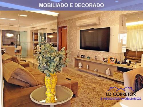 Imagem 1 de 30 de Apartamento A Venda Sol Da Manha, Vagas Individuais Com 3 Suítes E Totalmente Mobiliado - Incantomob - 32807907